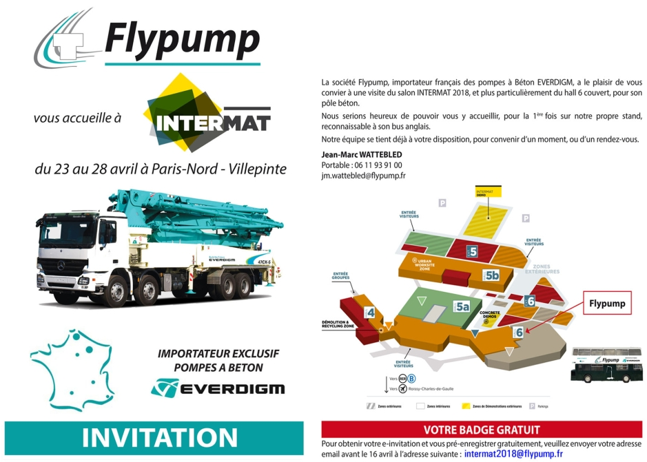 INVITATION INTERMAT 2018